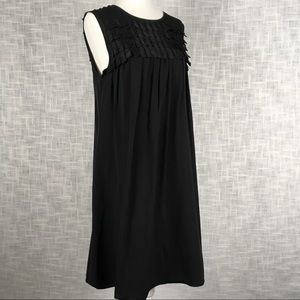 Burberry silk shift dress with fringe size 6